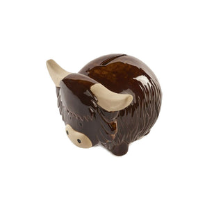 Highland Cow Money Bank