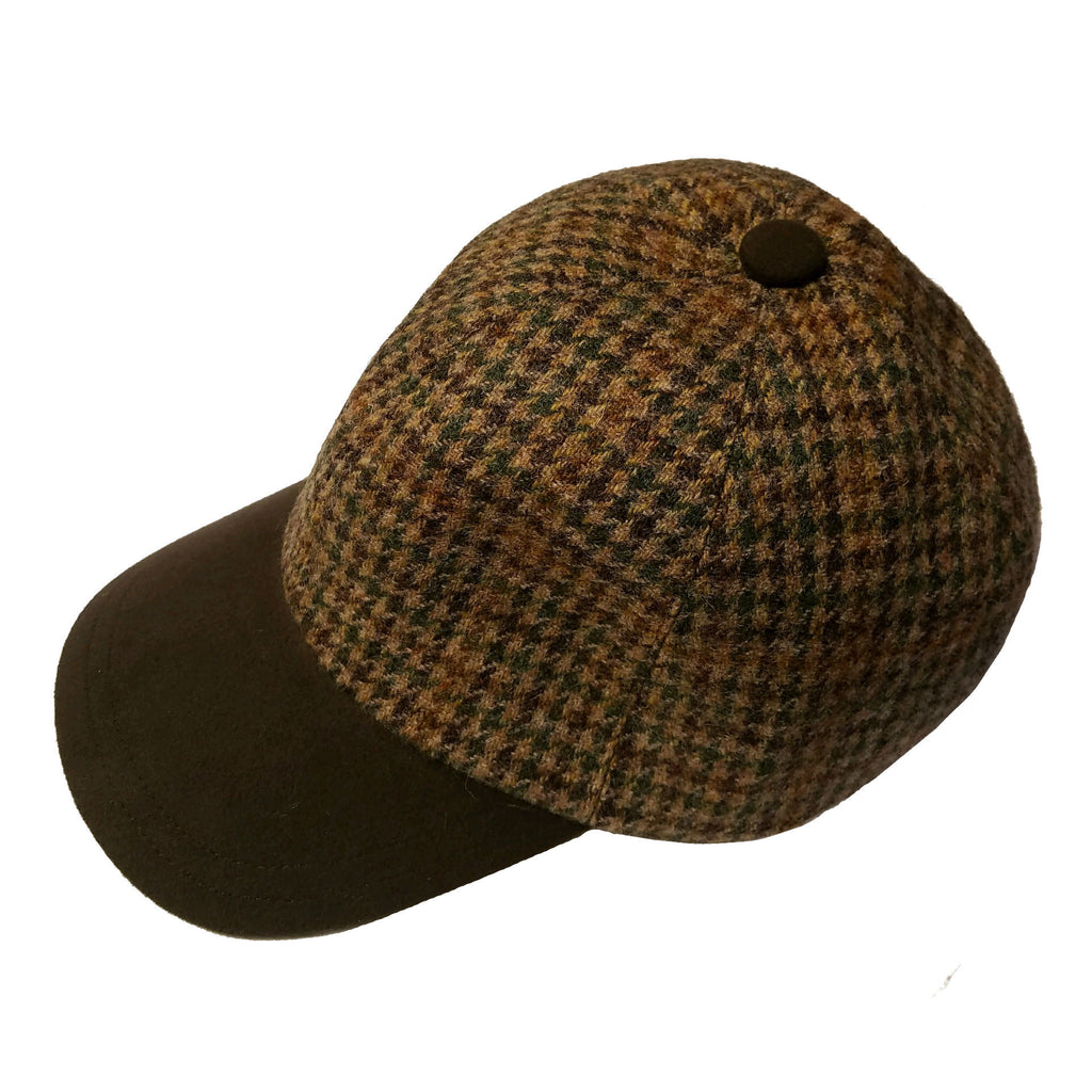 Tweed Houndstooth Baseball Cap