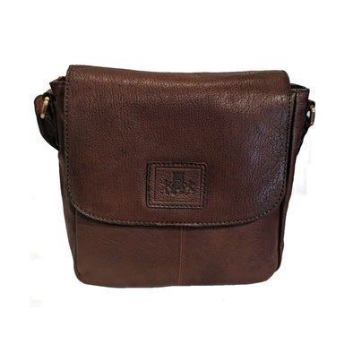 Leather Half-Flap Shoulder Bag