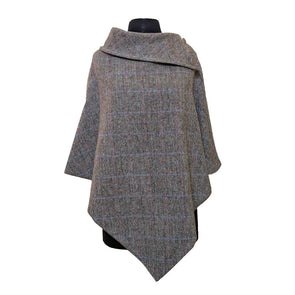 Harris Tweed Poncho from Peter James of England