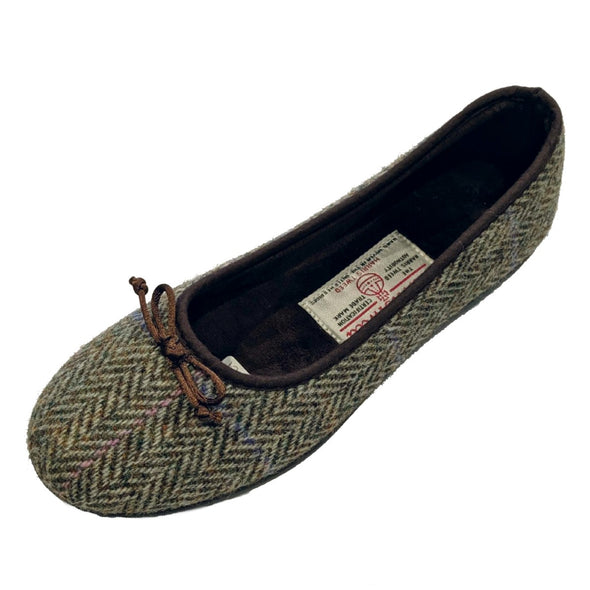 Harris Tweed Ballet Flats