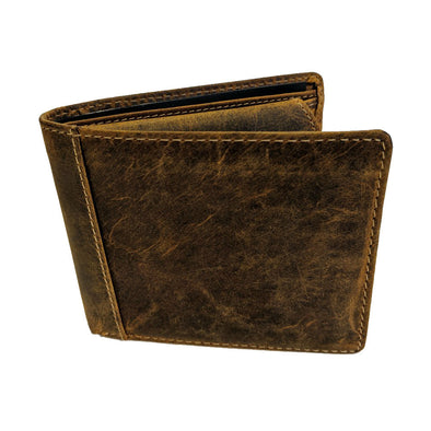 Vintage Leather Tri-fold Wallet
