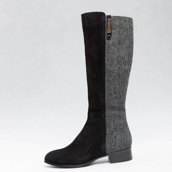 Roxburgh Harris Tweed & Sheepskin Boots