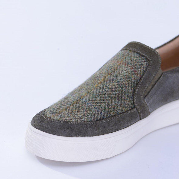 Women's Harris Tweed & Suede Trainers