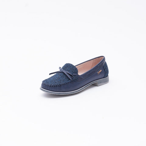 Women's Boat Shoes with Harris Tweed