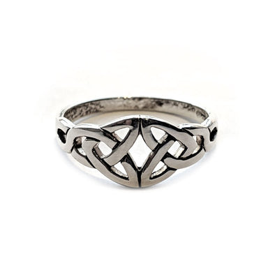 Silver Double Trinity Knot Ring