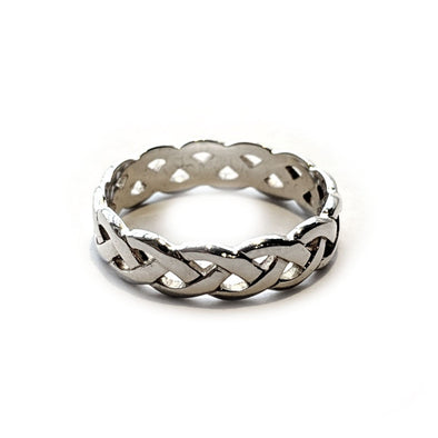 Women's Silver Celtic Weave Ring