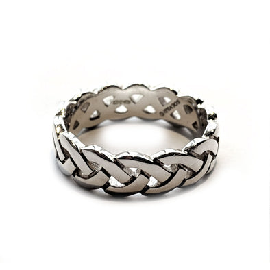 Men's Silver Celtic Weave Ring