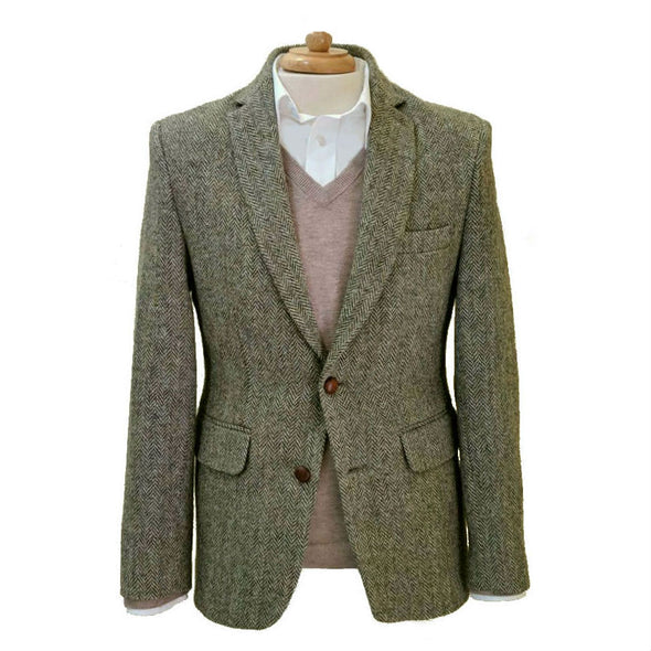 Ronaldo Slim Fit Harris Tweed Jacket