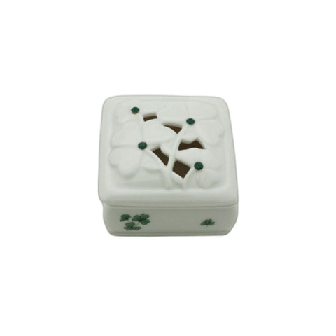 Ceramic Shamrock Trinket Box