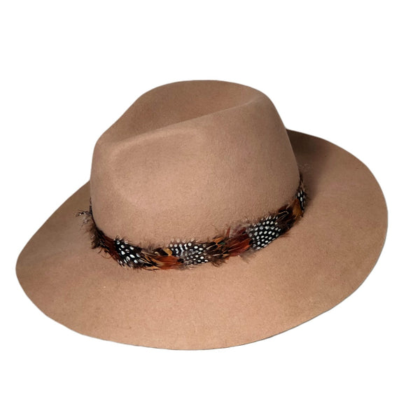 Boho Feather Band Hat
