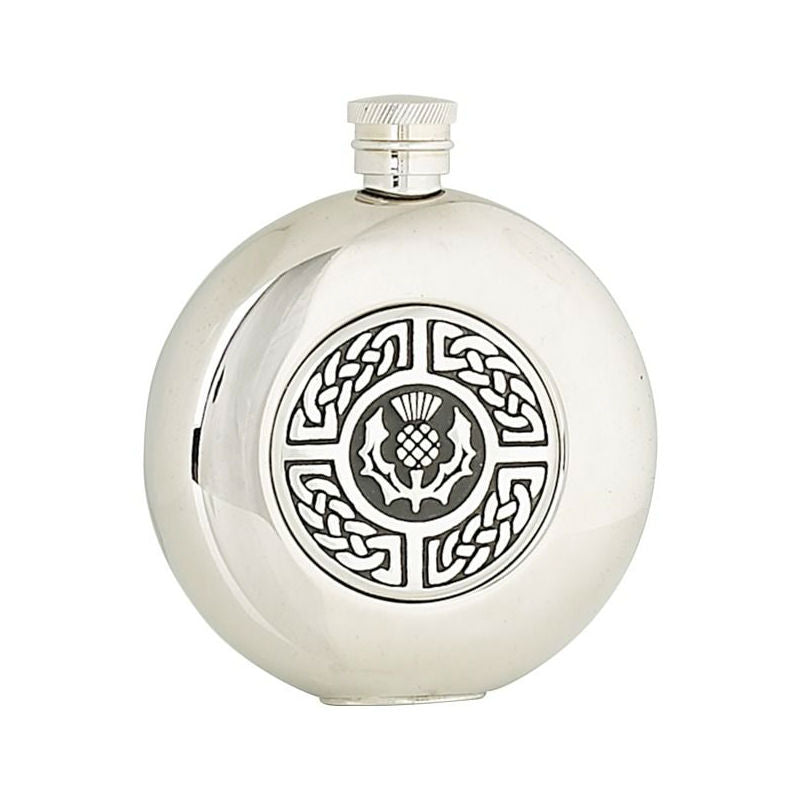 Hip Flask | 4.5 oz | Thistle with Celtic Weave