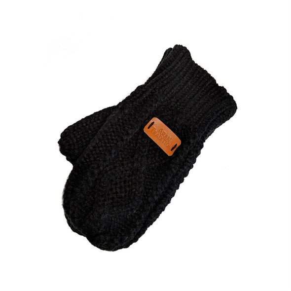 Black Knit Mittens