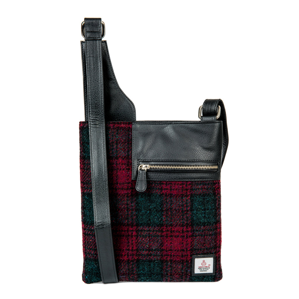Harris Tweed & Leather Medium Cross Body Purse