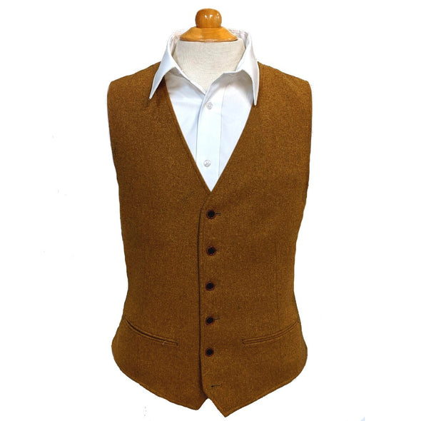 Two-Tone Wool Blend Vest