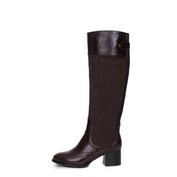 Luskentyre Harris Tweed & Buffalo Leather Riding Boots