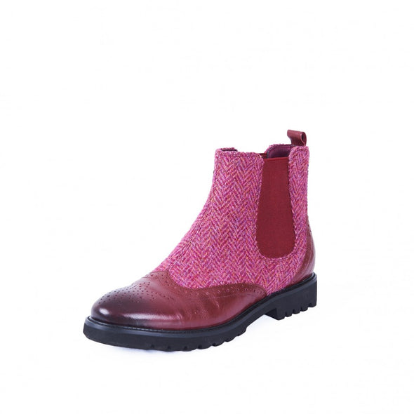 Harris Tweed & Sheepskin Chelsea Boots