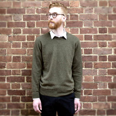 Lambswool Crew Neck Lightweight Sweater