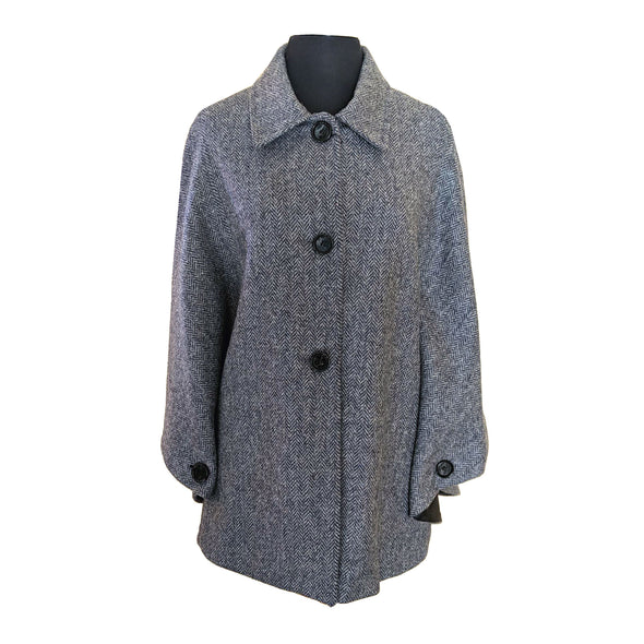 Harris Tweed Herringbone Button Cape
