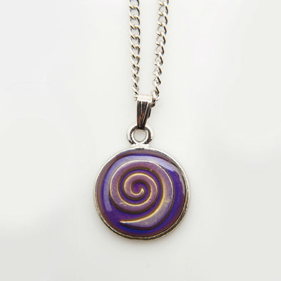 Celtic Spiral Mood Necklace