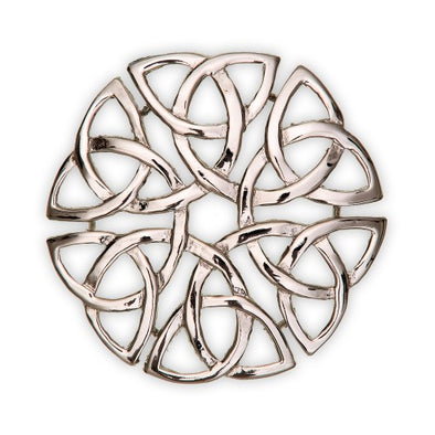 Trinity Knot Interlace Brooch