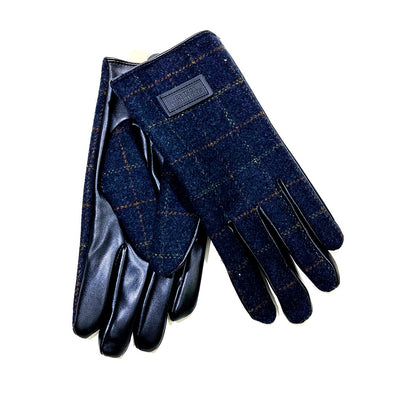 Men's Heritage Traditions Dark Blue Tweed Gloves