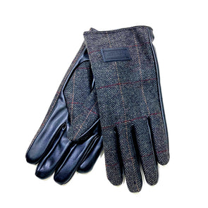 Men's Heritage Traditions Charcoal Tweed Gloves