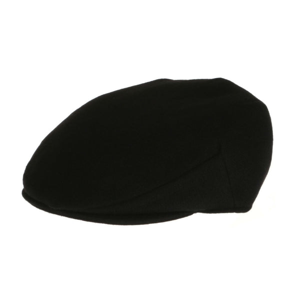 Vintage Black Tweed Driving Cap