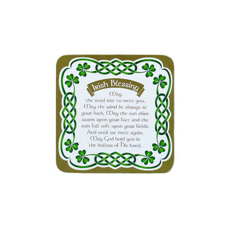 Traditional Irish Blessing Coaster