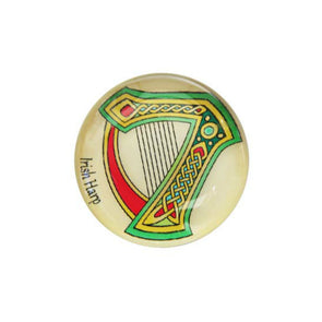 Irish Harp Fridge Magnet