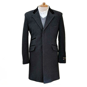 Wool & Cashmere Blend Slim Fit 3/4 Overcoat