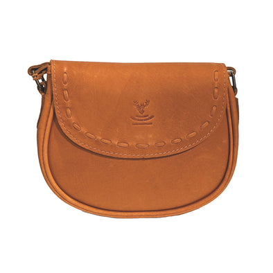Handmade Leather Rounded Cross-body Purse