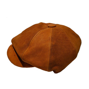 Handmade Scottish Deer Leather Newsboy Cap
