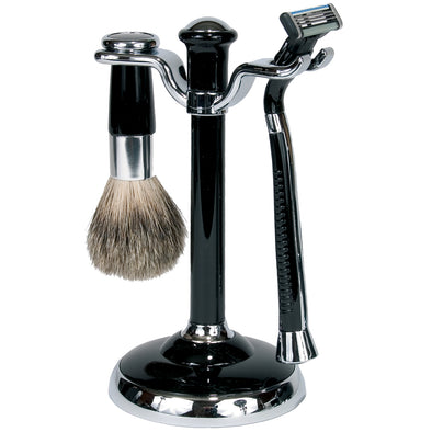 Shave Set | Black & Chrome