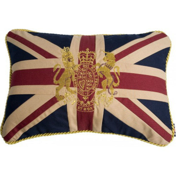 Pillow | Union Jack & Royal Crest Couch Cushion