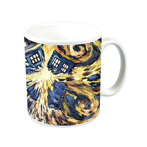 Doctor Who Mug | Exploding Tardis in Van Gogh Style
