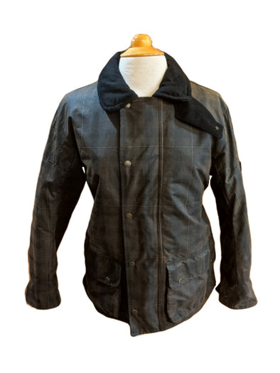 Men's Tartan Waxed Cotton Jacket