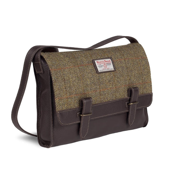 Harris Tweed & Leather Messenger Bag