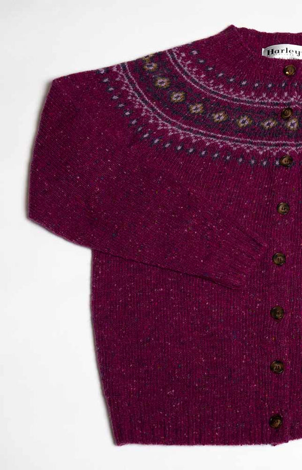 Scottish Merino Wool Fair Isle Cardigan