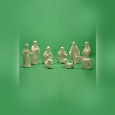 Ceramic Nativity Set | 9 Pieces