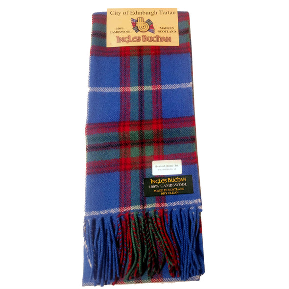 Brushed Wool Tartan Scarves