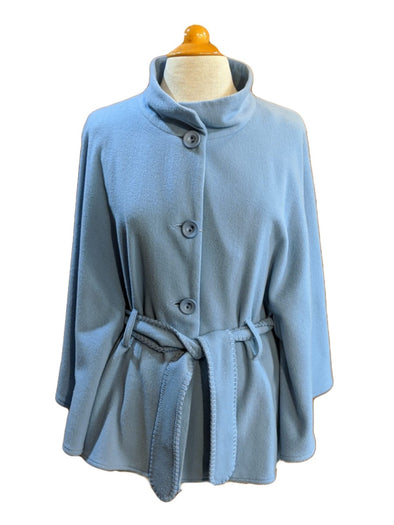 Wool & Cashmere Blend Belted Cape