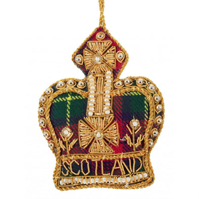 Tartan Crown, Scotland Ornament