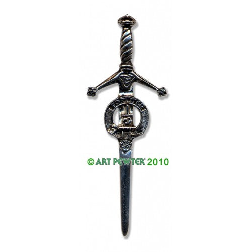 Clan Kilt Pin / Brooch from Art Pewter of Scotland — [ 68 Names ]