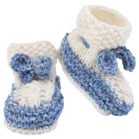 Hand Knit Irish Wool Baby Booties — [ 2 Colors ]