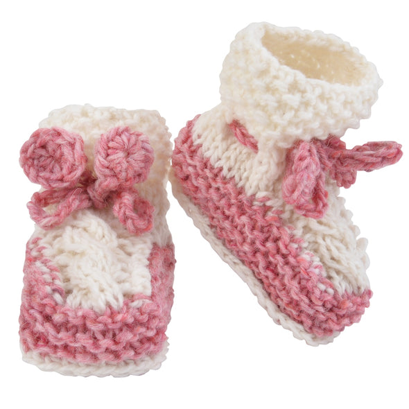 Hand Knit Irish Wool Baby Booties
