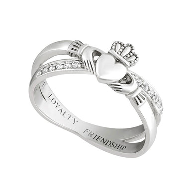 Women's Crossover Claddagh Ring