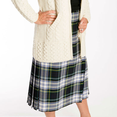 Walking Length Kilt Skirt in Campbell Dress Tartan
