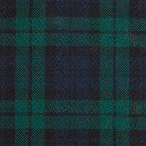 Black Watch Modern Tartan — Scottish Worsted Wool Scarf