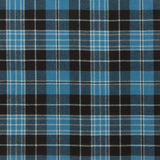 Clergy Blue Tartan — Scottish Worsted Wool Scarf